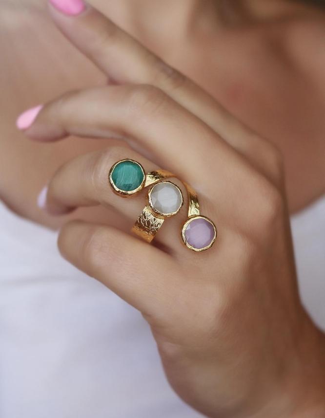Ήρα Mix Color Δαχτυλίδι