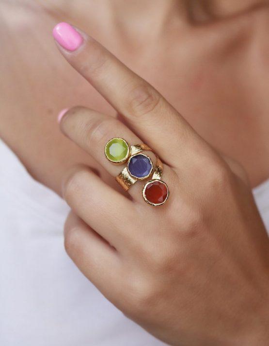 Λητώ Mix Color Δαχτυλίδι