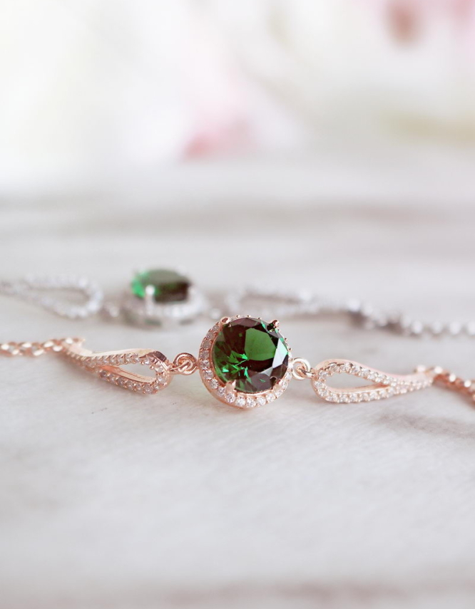 Βικτώρια Ασήμι 925 Πράσινο Βραχιόλι