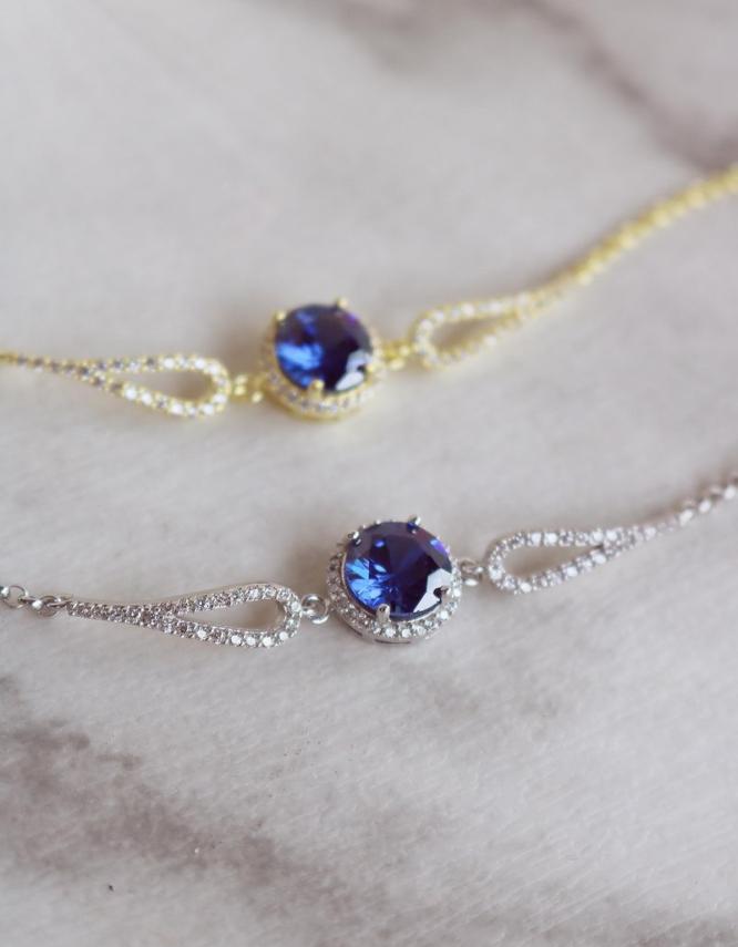 Βικτώρια Ασήμι 925 Μπλε Βραχιόλι
