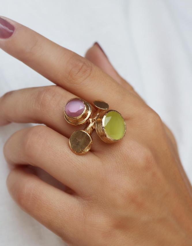 Ελπίδα Mix Color Δαχτυλίδι Σχέδιο 1