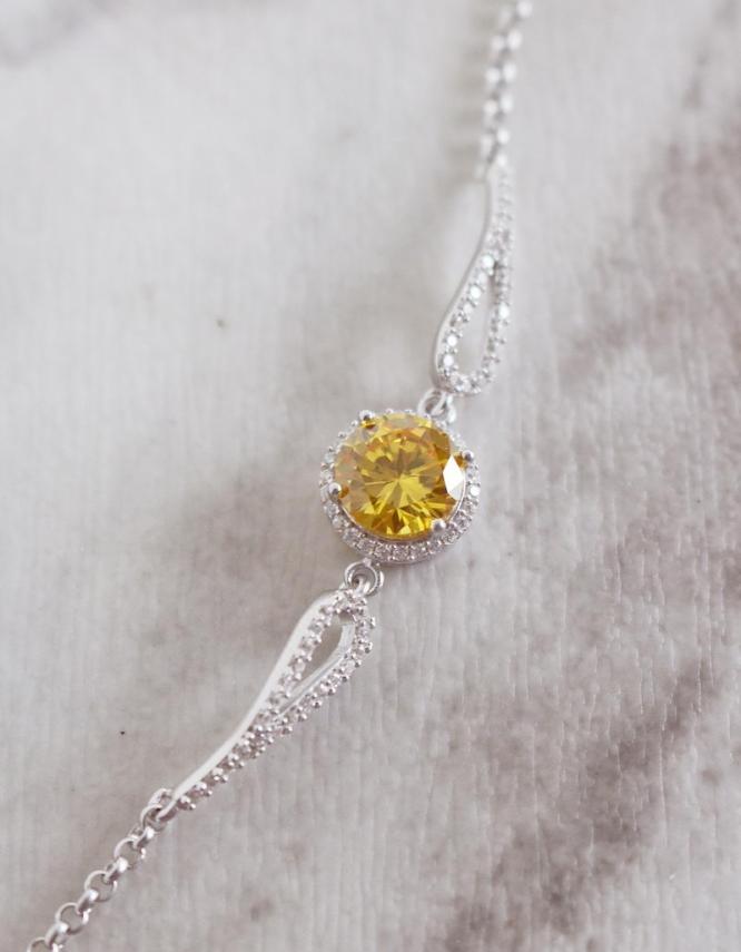 Βικτώρια Ασήμι 925 Κίτρινο Βραχιόλι