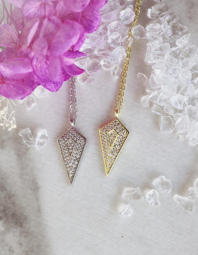 Πυραμίδες Ασήμι 925 Κολιέ