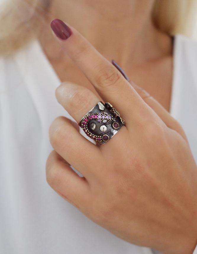 Βενετία 304 Ασήμι 925 Δαχτυλίδι