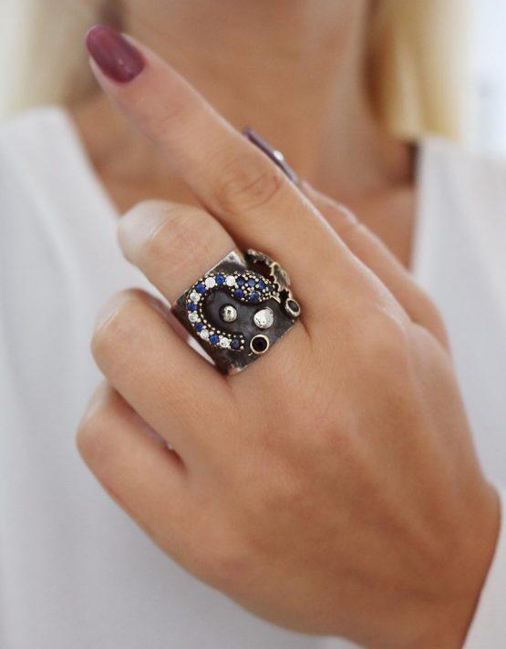 Βενετία 303 Ασήμι 925 Δαχτυλίδι
