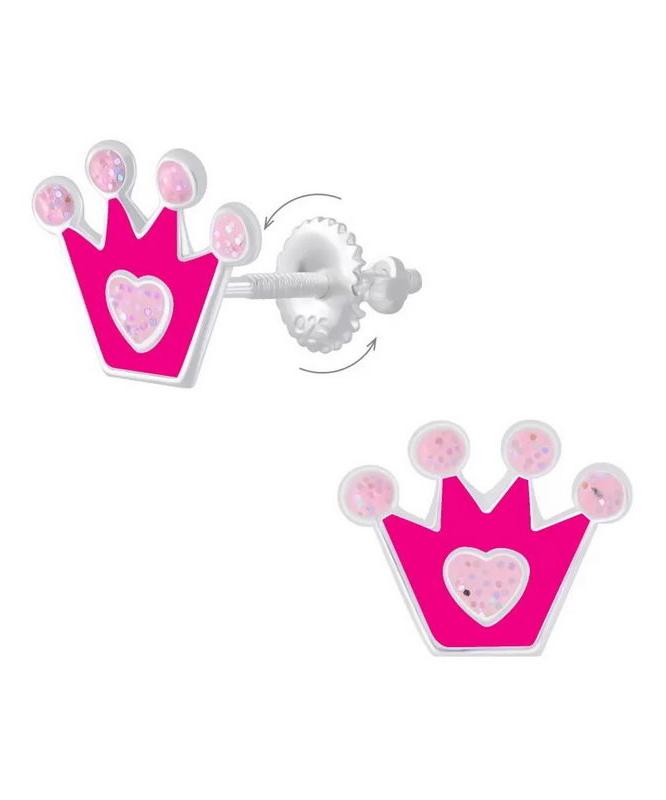 Crown Παιδικά Καρφωτά Σκουλαρίκια