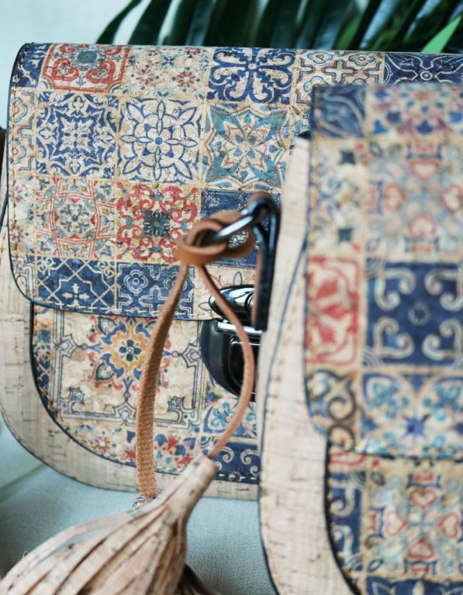 Vicirello Natural Cork Crossbody Bag