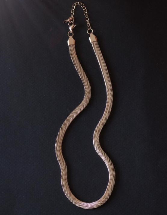 Ιοκάστη Snake Rose Gold Stainless Steel Κολιέ
