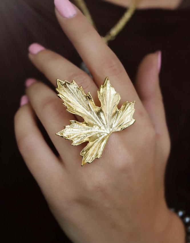 Πλάτανος Δαχτυλίδι (Χρυσό Χρώμα)