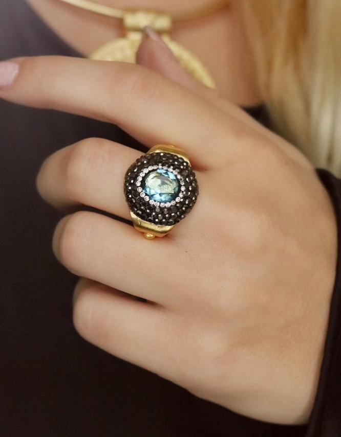 Αθηνά Aqua Δαχτυλίδι